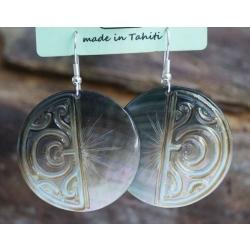 Boucles d'oreilles nacre de Tahiti N° 4