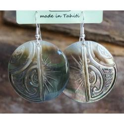 Boucles d'oreilles nacre de Tahiti N° 7