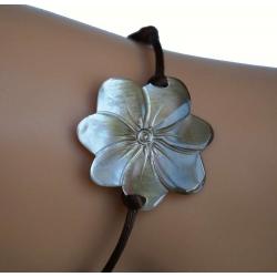 Bracelet nacre fleur de tiaré GM N° 3