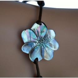 Bracelet nacre fleur de tiaré GM N° 4