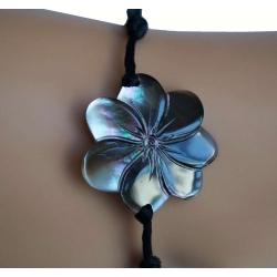 Bracelet nacre fleur de tiaré GM N° 5