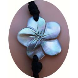 Bracelet nacre fleur de tiaré N° 2