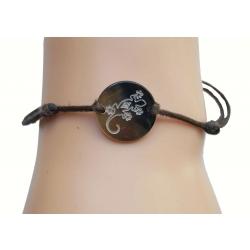 Bracelet nacre PM motif Gecko N°3