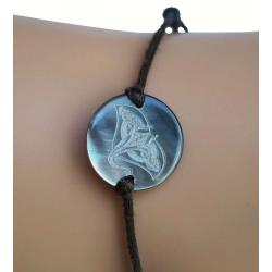 Bracelet nacre PM motif raie manta N°8