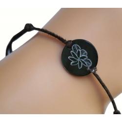 Bracelet nacre PM motif tiaré N°4