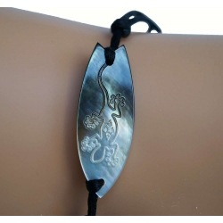 Bracelet  nacre surf gecko N° 4