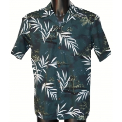 Chemise hawaienne BAMBOU BLACK