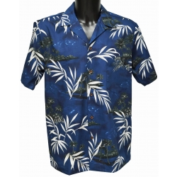 Chemise hawaienne BAMBOU NAVY
