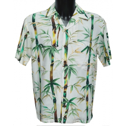 Chemise hawaienne BAMBOUS Blanc