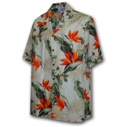 Chemise Hawaienne BIRDS OF PARADISE