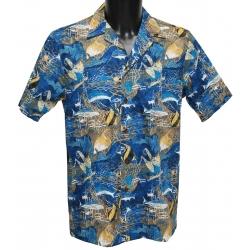 Chemise Hawaienne BLUE SEA