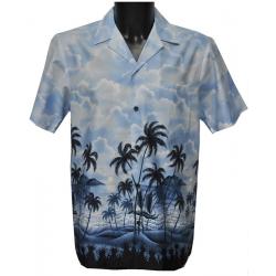 Chemise Hawaienne CLAIR DE LUNE A MAUNA LOA