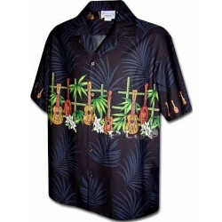 Chemise hawaienne GUITARES ET BAMBOU