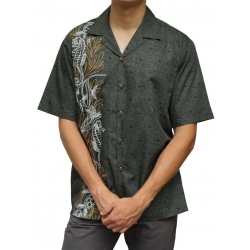Chemise Hawaienne HYPPOCAMPUS AND TURTLES (gris)