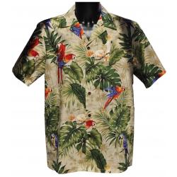 Chemise hawaienne LA FORET AUX PERROQUETS