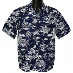 Chemise Hawaienne LOVE SHACK NAVY