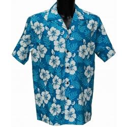 Chemise Hawaienne MOLOKAI TURQUOISE