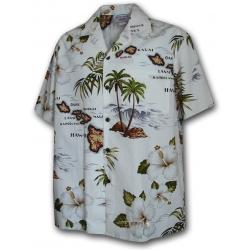 Chemise Hawaienne PARADISE ISLAND