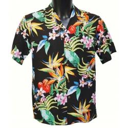 Chemise hawaienne PASSION PARADISE Noire