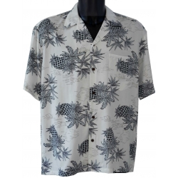 Chemise hawaienne PINEAPPLE MAP WHITE