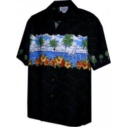 Chemise hawaienne POSTCARD