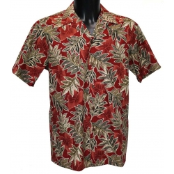Chemise Hawaienne RED AUTUMN