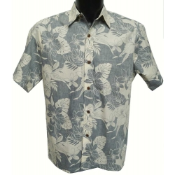 Chemise Hawaienne REVERSE MONSTERA ORCHID