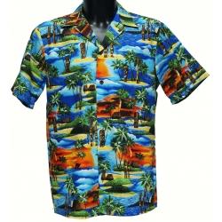 Chemise hawaienne SUNSET TIKI