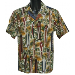 Chemise Hawaienne SURF BOARD
