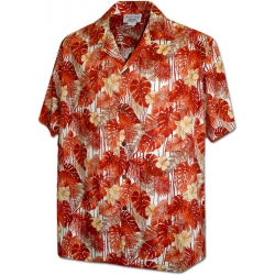 Chemise Hawaïenne TREILLE ORANGE