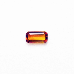 Citrine taille rectangle