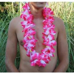 Collier de fleur Hawaï rose