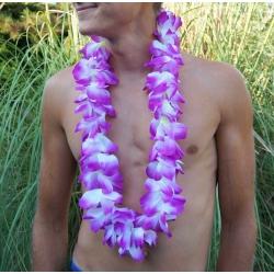 Collier de fleur Hawaï violet