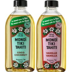 Lot Monoi Tiki Coco et Vanille