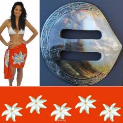 Mini paréo et sa boucle tahitienne N°2