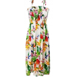 ROBE HAWAIENNE PASSION PARADISE BLANCHE