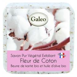 Savon exfoliant à la fleur de coton