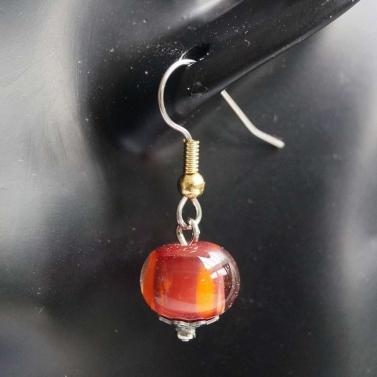 Boucle d'oreille en verre de Murano