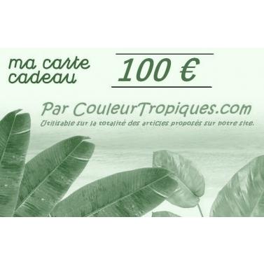carte cadeau couleurtropiques 100 Euros