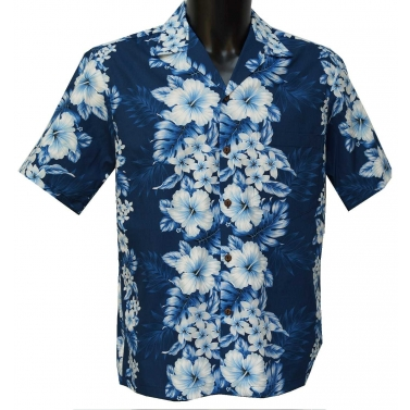 Chemise hawaienne navy