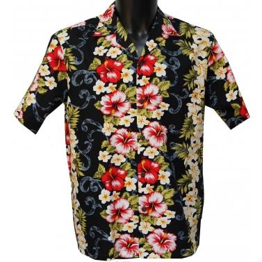 Chemise hawaienne noire