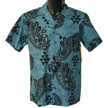 chemise hawaienne tribale