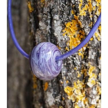 collier perle en verre filé collection Sphaera