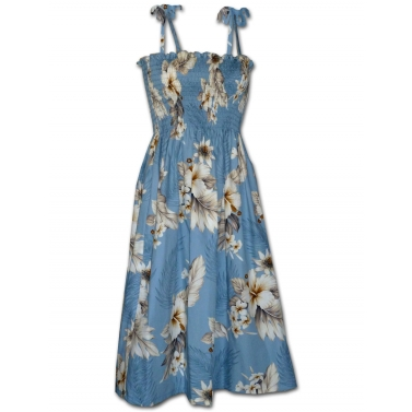 Robe hawaienne bleu