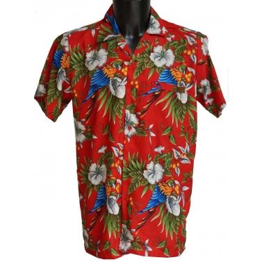 chemise aux perroquets