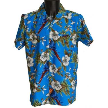 chemise avec des perroquets