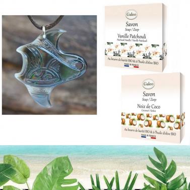 Bijou nacre de Tahiti et savon exfoliant