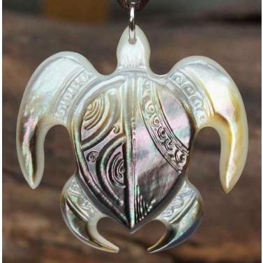 pendentif tortue nacre de tahiti