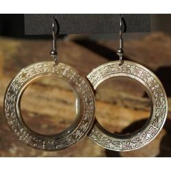 Boucles d'oreilles nacre de Tahiti (anneau) N°10