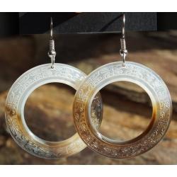 Boucles d'oreilles nacre de Tahiti (anneau) N°7